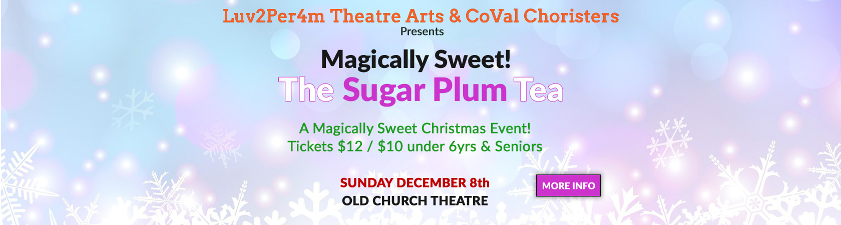 2019 Sugar Plum Tea Old Church Theatre